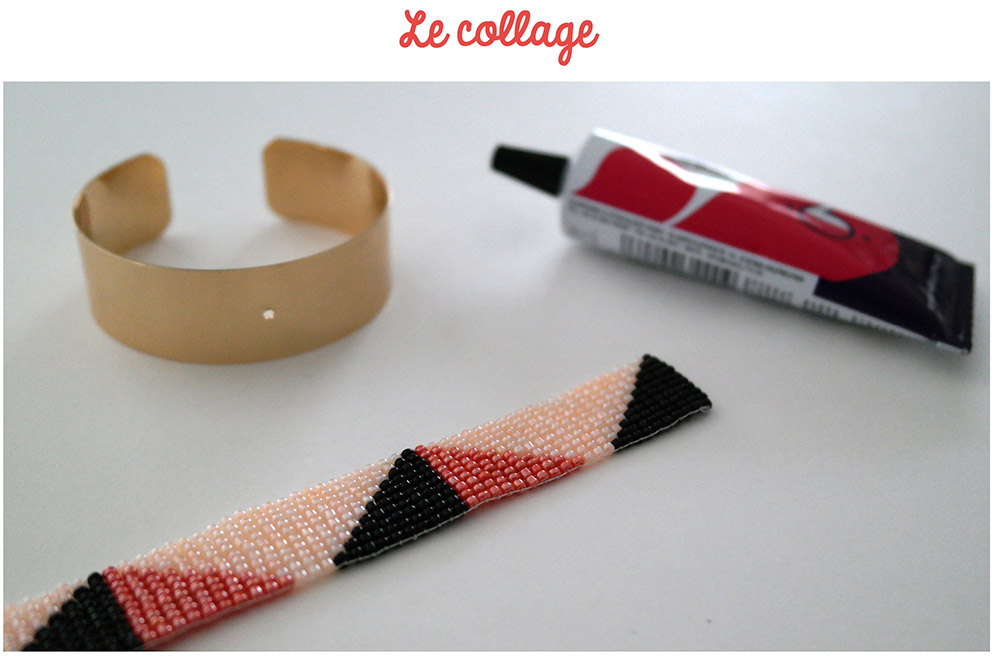 collage bracelet tissé