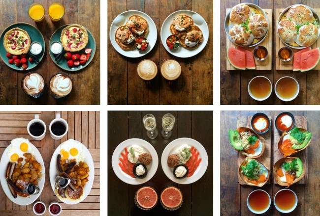 Photographie culinaire : symetrie breakfast