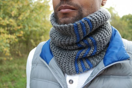 Snood homme au point mousse